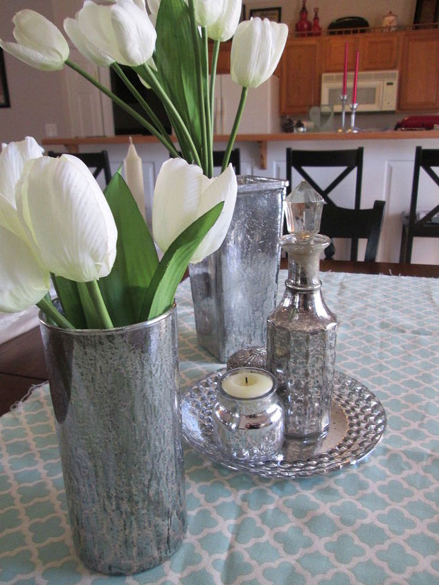 Painted Glass And Mercury Glass Containers Hometalk