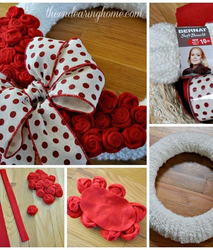 valentine wreath, crafts, how to, seasonal holiday decor, valentines day ideas, wreaths