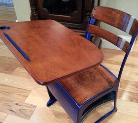 vintage child s desk with modern masters general finishes products painted furniture repurposing upcycling
