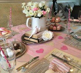 Pretty Pink Valentine S Day Tablescape, Crafts, Dining Room Ideas,  Repurposing Upcycling,