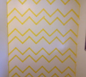 Home Office W Chevron Wall And Custom Shelves, Home Office, Painting,  Shelving Ideas