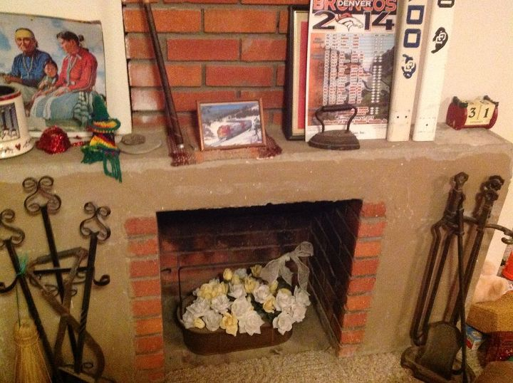 Fabulous Cheap Ideas To Redo Old Non Working Fireplace Hometalk Download Free Architecture Designs Sospemadebymaigaardcom