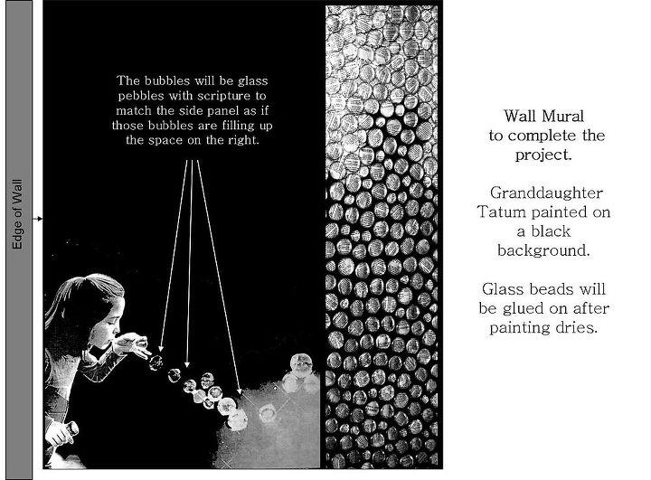 using glass pebbles as wall decor, decoupage, foyer, repurposing upcycling, wall decor