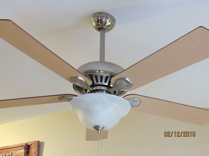 Diy ceiling fan makeover with modern masters paint hometalk diy ceiling fan makeover with modern masters paint lighting painting before aloadofball Images