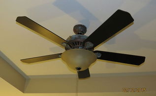 diy ceiling fan makeover with modern masters paint, lighting, painting