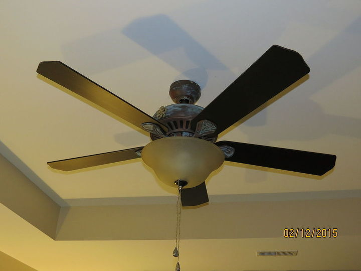 Diy ceiling fan makeover with modern masters paint hometalk diy ceiling fan makeover with modern masters paint lighting painting aloadofball Image collections
