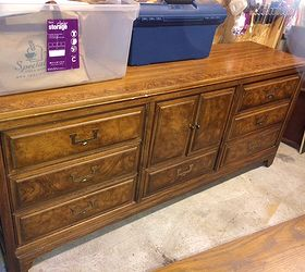 Attractive American Of Martinsville Campaign Credenza, Painted Furniture