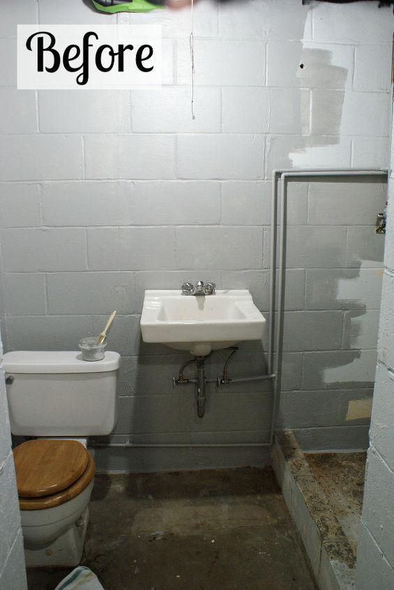 basement bathroom spruce up, bathroom ideas, home improvement, small bathroom ideas