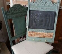 chair back memo board, chalk paint, chalkboard paint, painted furniture, repurposing upcycling