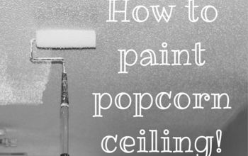 painting popcorn ceiling, how to, painting, wall decor