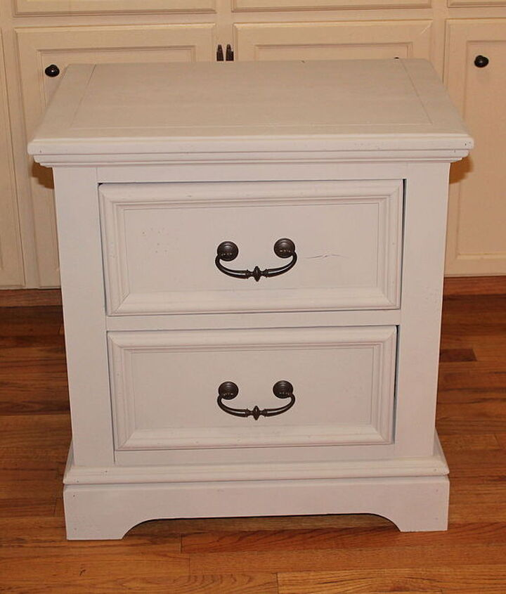 my hand painted poppy nightstand, painted furniture