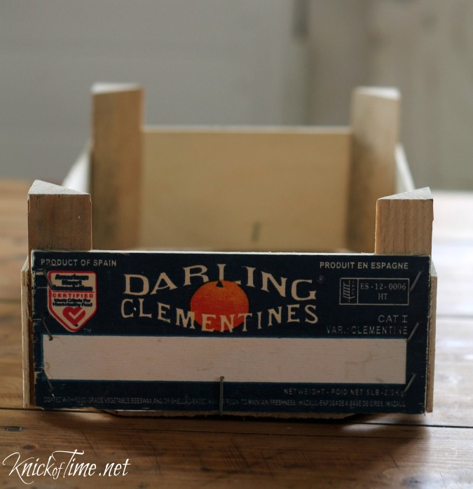 clementine crate makeover, home decor, pallet, repurposing upcycling