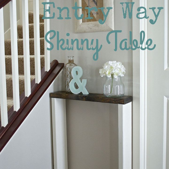 diy entry way skinny table, diy, foyer, how to, painted furniture, woodworking projects