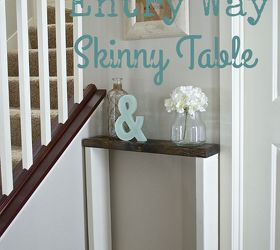 Diy Entry Way Skinny Table, Diy, Foyer, How To, Painted Furniture,