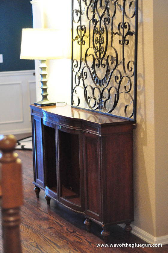 q what color to paint, foyer, painted furniture, Here s the console table