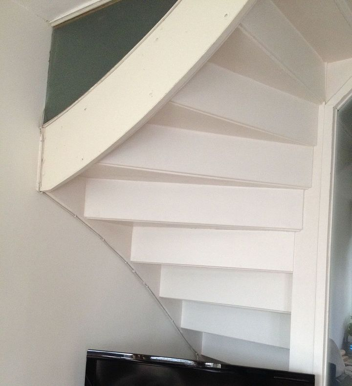 q ugly stairs help, shelving ideas, stairs