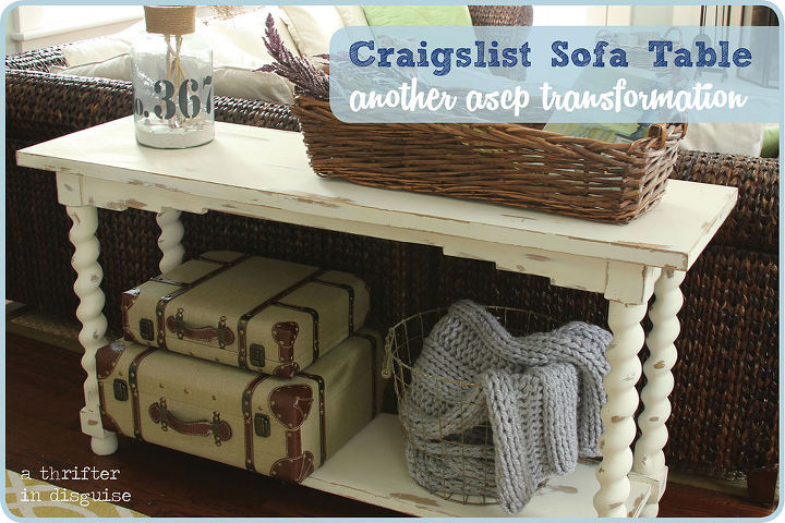tired old sofa table makeover, chalk paint, painted furniture