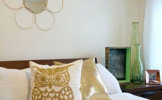metallic guest room update, bedroom ideas, how to, repurposing upcycling, window treatments