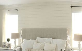 diy ship lap wall detail, bedroom ideas, diy, how to, wall decor, woodworking projects