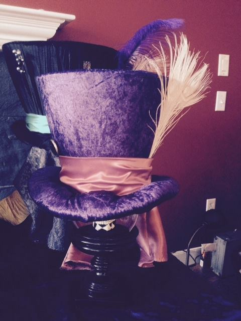 mad hatter repurposed lampshade hat, crafts, repurposing upcycling