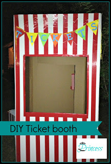 Diy Carnival Booth From Fridge Box Hometalk