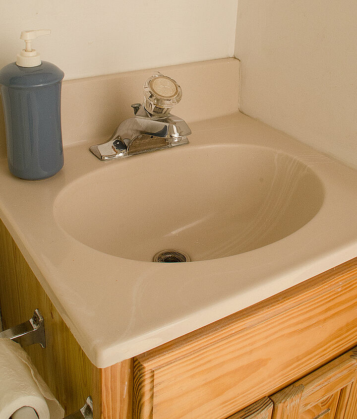 how to paint a sink take 2, bathroom ideas, how to, painting