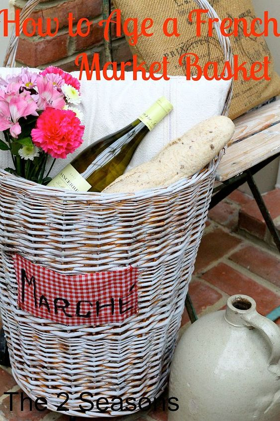 how to age a basket, chalk paint, crafts, how to