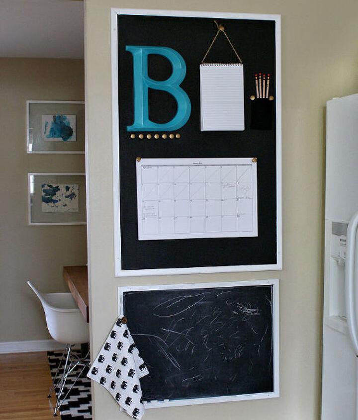 Diy Chalkboard Kitchen Calendar Command Center Hometalk