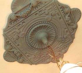 Victorian Dinning Room Makeover, Dining Room Ideas, Painting, Wall Decor,  Original Ceiling. Original Ceiling Medallion ...