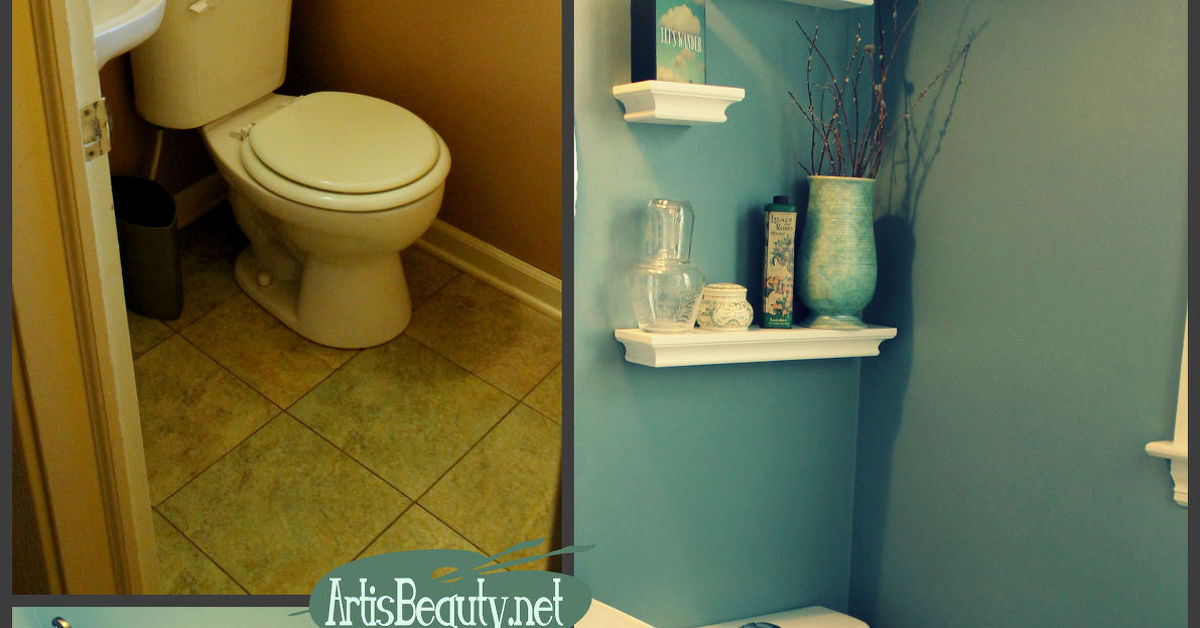 Half Bathroom Or Powder Room: Finished Tiny Half Bathroom (Powder Room) Remodel