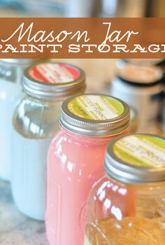 mason jar paint storage, mason jars, painted furniture, painting, repurposing upcycling, storage ideas