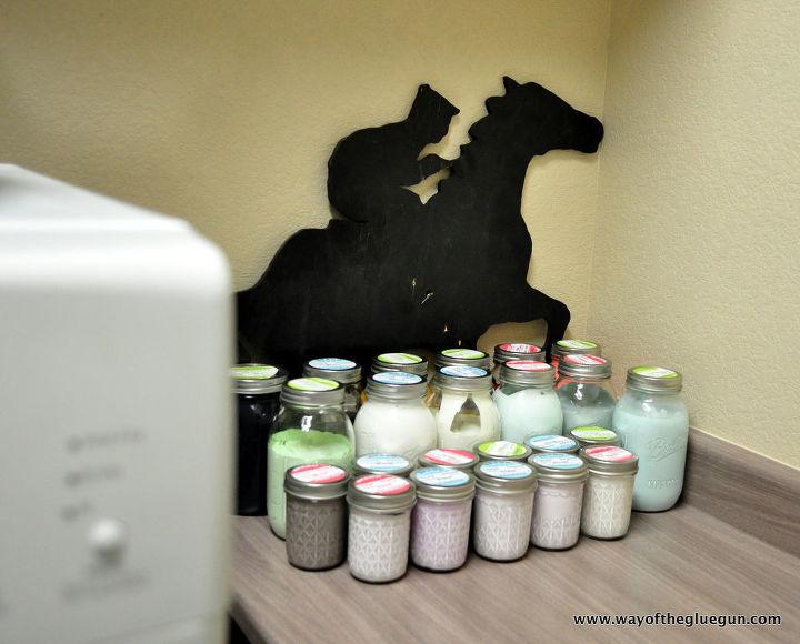 mason jar paint storage, mason jars, painted furniture, painting, repurposing upcycling, storage ideas