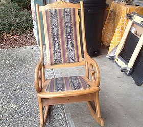 Antique Rocking Chair Update, Painted Furniture, Repurposing Upcycling,  Reupholster, The Before