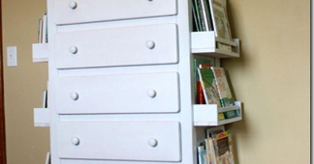 DIY Bookshelf Dresser