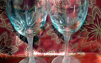 Dandelion Etched Wine Glasses