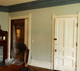 Beautiful Victorian Dinning Room Faux Wood Graining Doors Trim, Dining Room Ideas,  Doors, Wall