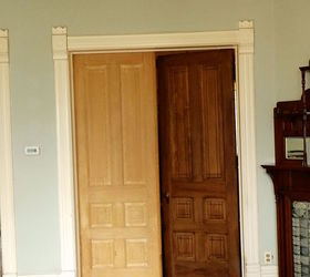 Victorian Dinning Room Faux Wood Graining Doors Trim, Dining Room Ideas,  Doors, Wall