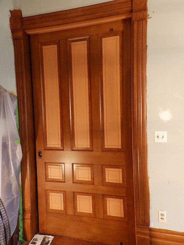The Pocket door has 3 of the 9 panels showing