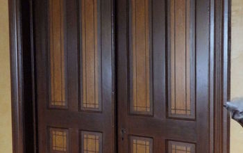 Victorian Dinning Room - Painting Faux Wood Grain: Doors, Trim.