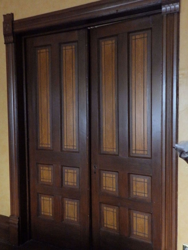victorian dinning room faux wood graining doors trim, dining room ideas, doors, wall decor