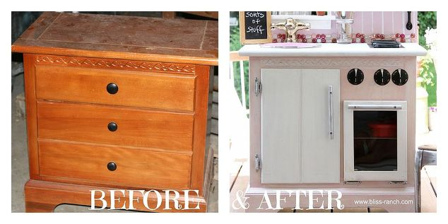 Play Kitchen Made From Old Nightstand   Hometalk