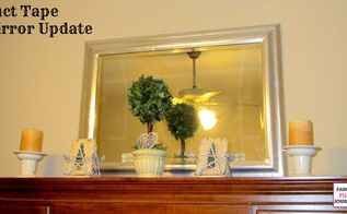 duct tape mirror frame makeover, crafts, how to, repurposing upcycling, wall decor