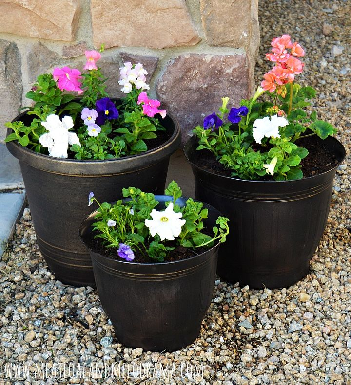 diy painted flower pots, container gardening, crafts, gardening, how to, outdoor living
