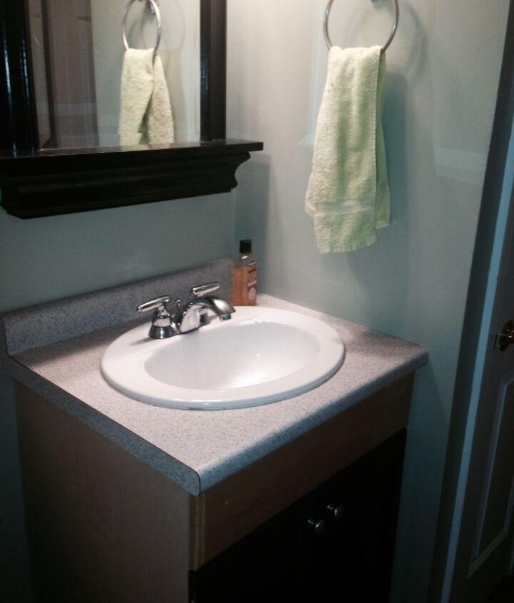 half bath remodel, bathroom ideas, home improvement, small bathroom ideas, tile flooring