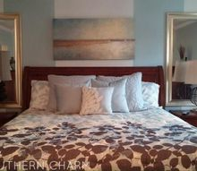 master bedroom mini makeover how i added the illusion of light, bedroom ideas, lighting, paint colors, painting