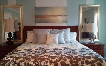 Master Bedroom Mini Makeover & How I Added the Illusion of Light!