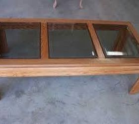 Q Updating Glass And Wood Coffee Table, Living Room Ideas, Painted Furniture