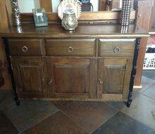 q distress walnut hutch, painted furniture, walnut base wood