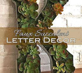 Succulent Letter Craft Succulent Letter Craft