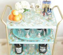 diy bar cart, painted furniture, repurposing upcycling